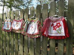 Applique' Apron Skirt Sewing Pattern - DOWNLOADABLE. $9.95, via Etsy.