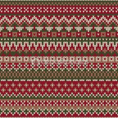 Christmas Sweater Design. Seamless Knitted Pattern in traditional Fair iSle style — Stock Illustration #59241523