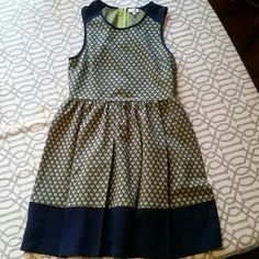 Dress Pixley (Stitxhfix brand) heart dress. Pattern is blue and green. NWOT never worn or washed. Fits size 10 Pixley Dresses