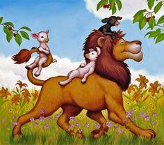 лев и барашки - Схемы вышивки - allllla2 - Авторы - Портал «Вышивка крестом»