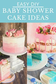 Easy to make DIY Baby Shower Cakes. Get full recipes and instructions for 10 of the prettiest DIY Baby Shower cake ideas. #babyshowercakes #DIYbabyshowercakes #DIYbabyshowercakeideas Amazing Baby Shower Cakes, Baby Shower Cakes For Boys, Tea Party Baby Shower, Star Baby Showers, Baby Shower Winter, Baby Boy Shower, Baby Shower Advice, Shower Ideas, Cake Works