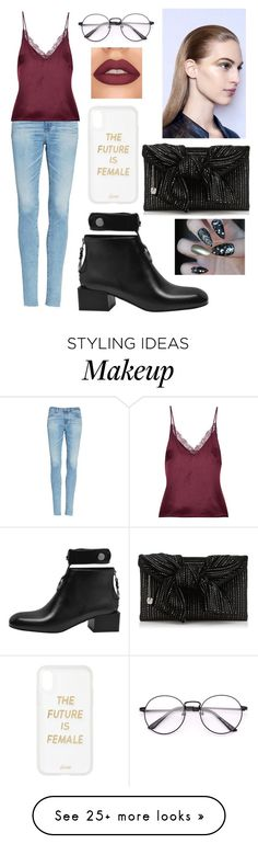 """""""I'm already tired"""" by hannahz1212 on Polyvore featuring AG Adriano Goldschmied, Anine Bing and Sonix"""