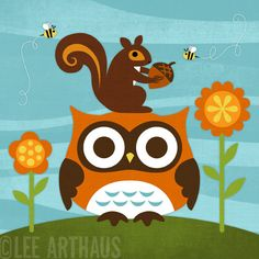 Bright Owl in Nature from Lee Arthaus