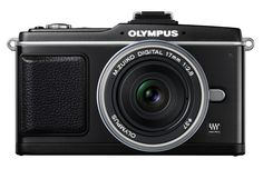 Olympus PEN E-P2 12.3 MP Micro Four Thirds Interchangeable Lens Digital Camera with 17mm f/2.8 Lens (Electronic View Finder not included). 12.3-megapixel interchangeable lens digital camera; Micro Four Thirds format. Includes 17mm f/2.8 digital zoom lens; optional Electronic View Finder sold separately, not included. 3-inch HyperCrystal LCD with Live View function; Continuous Autofocus (C-AF) tracking system. Record HD video with high-quality audio; Full Manual Control of shutter/aperture…