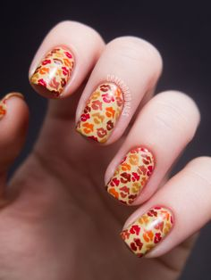 Nail art - fall kisses