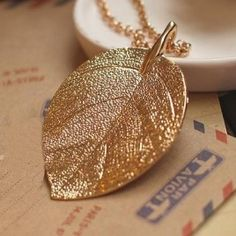 The New Restoring Elegant Necklace Women Gold Color Leaf Necklaces & Pendants Sweater Chain Bijoux Femme Fashion Jewelry Long Pendant Necklace, Long Chain Necklace, Leaf Necklace, Leather Necklace, Jewelry Gifts, Jewelry Necklaces, Chain Jewelry, Jewelry Watches, Statement Jewelry