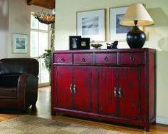 Hooker red cabinet