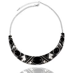 Statement Necklace 2017New Vintage Jewelry Silver Color Alloy Black Resin Bead Choker Necklace Fashion Bijoux Necklace For Women | Price: US $2.93 | http://www.bestali.com/goto/1166833195/10