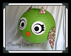 Owls made from Japanese lanterns