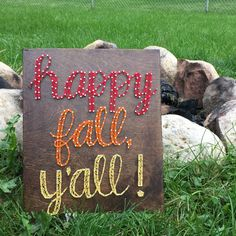 Happy Fall, Y'all! string art by SeasonOfSeeking on Etsy  https://www.etsy.com/listing/250587001/happy-fall-yall-string-art