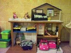Barbie Doll house >> Upcycled from a desk!<