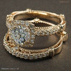 Beautifully crafted Parisian-123CU and its matching band present a unique set in the romantic glow of the Rose gold.