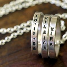 Personalized Mommy Necklace now featured on Fab.  Monkeys always look