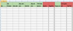 free excel spreadsheet for items to sell | eBay Inventory Spreadsheet by Karen Locker | That Kat Simpson