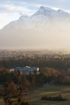 Untersberg and Schloss Leopoldskron, Salzburg - the von Trapp house from The Sound of Music