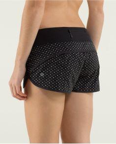 Run:Speed Short | lululemon athletica | color: chevron dot black/black | Lululemon.com