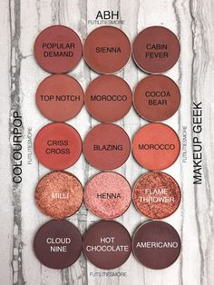 WARM BROWNS AND COPPERS Colourpop VS Anastasia Beverly Hills VS Makeup geek