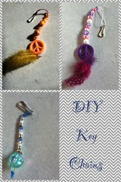 Diy key chains! Just use beads and feathers! Simple and fun!
