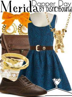Disneybound Merida sweet casual look