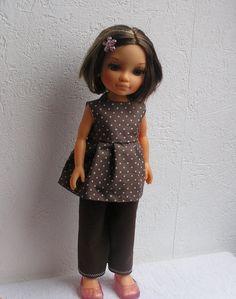 Tunique et pantalon pour poupée Nancy de Famosa : Jeux, jouets par laines-et-tissus