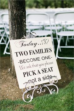 pick a seat not a side vintage wedding seating sign