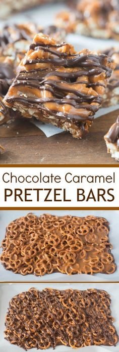 These simple Salted Chocolate Caramel Pretzel Bars will quickly become your new favorite sweet and salty t. These simple Salted Chocolate Caramel Pretzel Bars will quickly become your new favorite sweet and salty treat! Easy Dessert Bars, Oreo Dessert, Simple Dessert Recipes, Appetizer Dessert, Quick Simple Desserts, Desserts For A Crowd, Classic Desserts, Simple Snacks, Unique Recipes