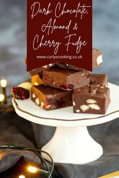 Rich dark chocolate fudge studded with cherries and almonds. This Dark Chocolate, Almond