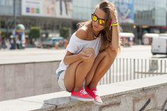 KOKORINOO: Rad Modern Action Sports Revo Mirror Lens Wayfarer Sunglasses 8647