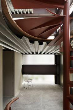 Sliced composite slab -  Forjado colborante cortado en curva  //  Log Rhythm by Mount Fuji Architects