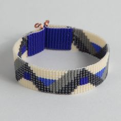Native American Blue and Gray ZigZag Bead Loom by PuebloAndCo, $15.99