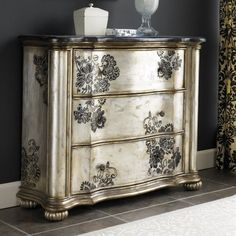 Closet Design .:. Storage Solutions ... A  Handpainted Chest ...Gorgeous