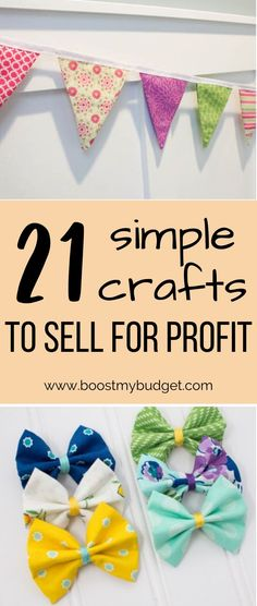 21 easy things to make and sell to make money Money Making Crafts, Crafts To Make And Sell, How To Make Money, Crafts For Kids, Selling Crafts Online, Craft Online, Local Craft Fairs, Sewing To Sell, Craft Business