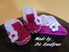Strick- & Häkelschuhe - Baby Ballerina´s - ein Designerstück von DieSandfrau bei DaWanda