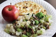 Fruit,veggies and egg whites for breakfast