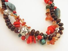 Southwest Coral Turquoise Sterling Silver in Red by embracetherock, $138.00
