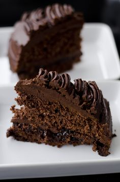 Przepyszny, bardzo czekoladowy tort.