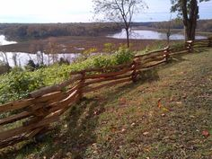 Unique Fence Ideas Rustic | Our rustic split rails separate wild and tame in this historical park