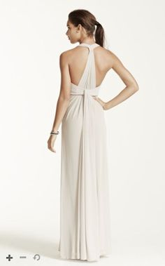 This contemporary nbsp T-strap back halter dress is truly unforgettable! Halter  dress features a nbsp  Chic T-strap back with dramatic draping adds a  modern ... e68e731a2877