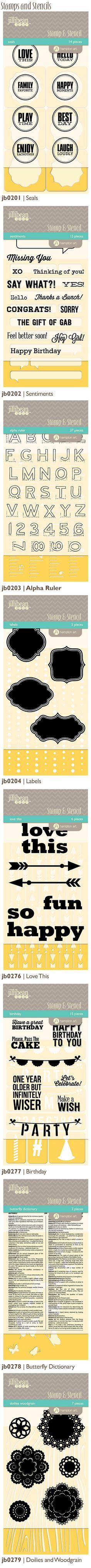 Jillibean Soup Stamps & Stencils