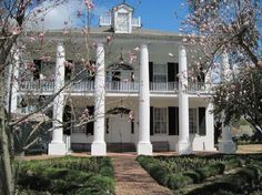 Rosalie Mansion, Natchez Ms.  This is the back of the house