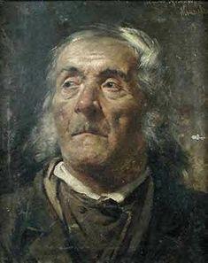 """Zygmunt Ajdukiewicz """"Portret starca"""", olej na płótnie, 45 x 35 cm, własność prywatna"""