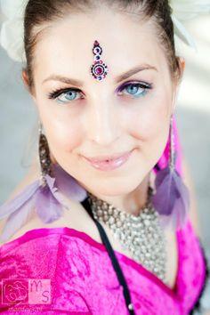 dancer: Paulina, photographer: Magdalena Sobkowiak, bindi: Tribal Bindi www.facebook.com/... belly dance bindi