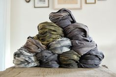 hemp jersey-naturally dyed scarves