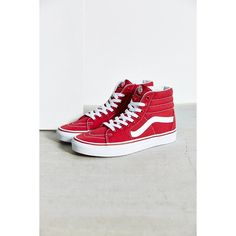 vans shoes high tops red. vans sk8-hi seasonal sneaker ($60) ❤ liked on polyvore featuring shoes, shoes high tops red