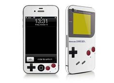 iPhone 4 Game Boy decal $10.00. If I had an iPhone...then I would have this.