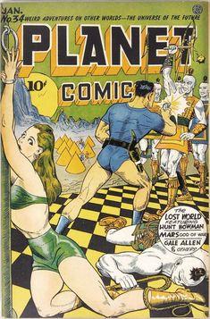 Planet Comics – Page 3 – Pulp Covers Sci Fi Comics, Old Comics, Horror Comics, Fantasy Comics, Old Comic Books, Vintage Comic Books, Vintage Comics, Book Cover Art, Comic Book Covers