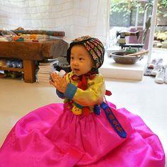 여아 돌 한복♡ 너무 사랑스러운 아기예요😇  아기가 입은 한복은 대여가 가능합니다😁 #풍경한복 #한복 #풍경  #여아한복
