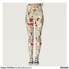 Discover Xmas leggings at Zazzle! Workout Leggings, Women's Leggings, Christmas Leggings, Look Cool, Dressmaking, Happy Holidays, Custom Made, Things That Bounce, Cool Designs