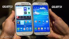 Comparison of Galaxy S3 vs. Galaxy S4. Kinda looks the same to me...