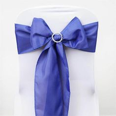 Royal Blue Polyester Sash | eFavorMart /  Plan as many events as you want and invite as many guest as you desire without even worrying about the expenses and your budget. With our sturdy and economical polyester chair sashes, you can now transform any dining experience into a magnificent feast with an upscale feel and an elite look without breaking the banks. Get inspired by our premium quality polyester chair sashes that open the gates of creativity and ingenuity. With such a high standard…